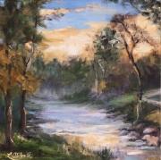Sunrise-in-South-Carolina_12x12-Oil_Lynn-Abbott_Brush-Strokes-Gallery